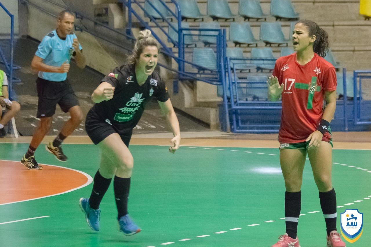 AAU vence o primeiro jogo da semifinal da Liga Nacional de Handebol Feminino
