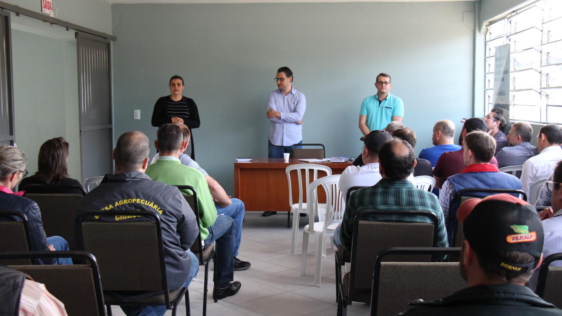 Encontro com expositores do setor agropecuário da Expo Concórdia