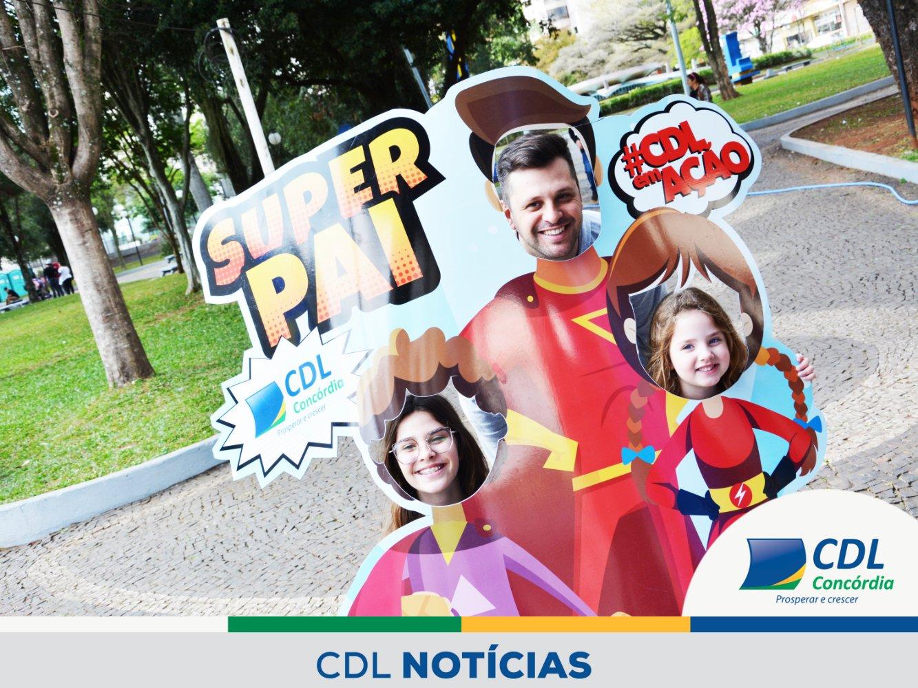 CDL Concórdia promove ação especial do Dia dos Pais