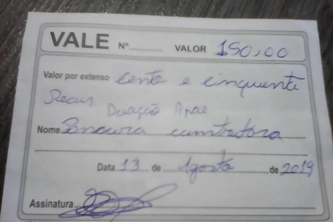 Golpista está pedindo doação para as empresas em nome da Apae