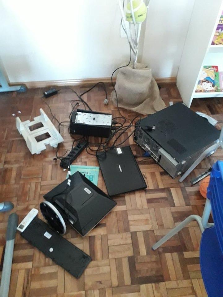 Escola é alvo de vandalismo em Peritiba