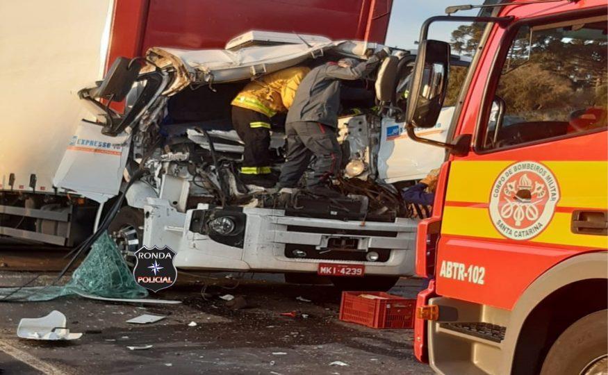 Motorista de caminhão de Irani não resiste aos ferimentos e morre a caminho do hospital