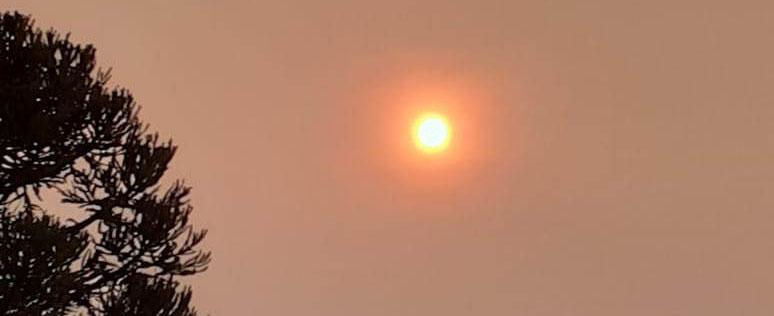 CURIOSIDADE – Nebulosidade no Sul também é fumaça da Amazônia