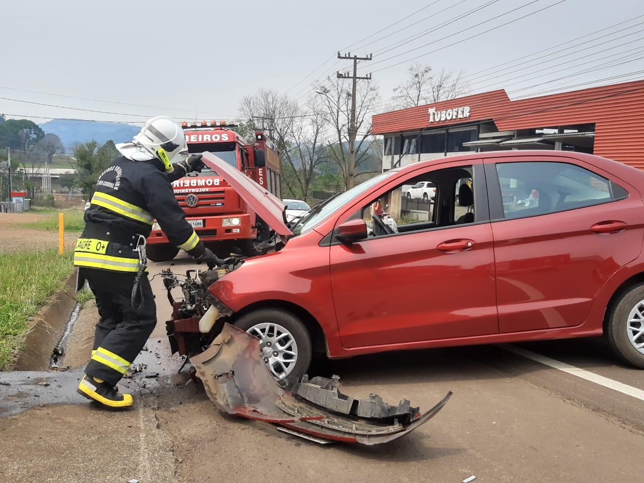 Possível mal súbito é causa de acidente na SC 283