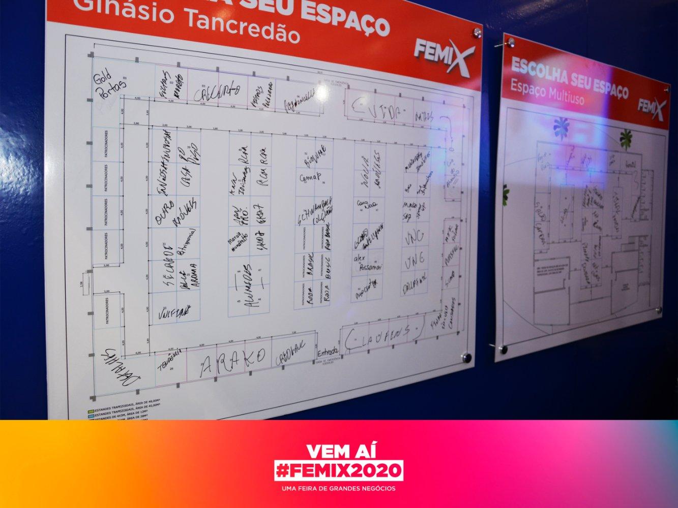 FEMIX 2020 100% dos espaços internos comercializados na EXPO 2019
