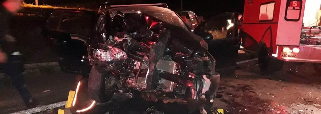 Veículos de Concórdia se envolvem em acidente no RS