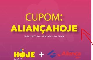 Acompanhe a Aliança e ganhe R$ 99,00 de desconto no HOJE2019