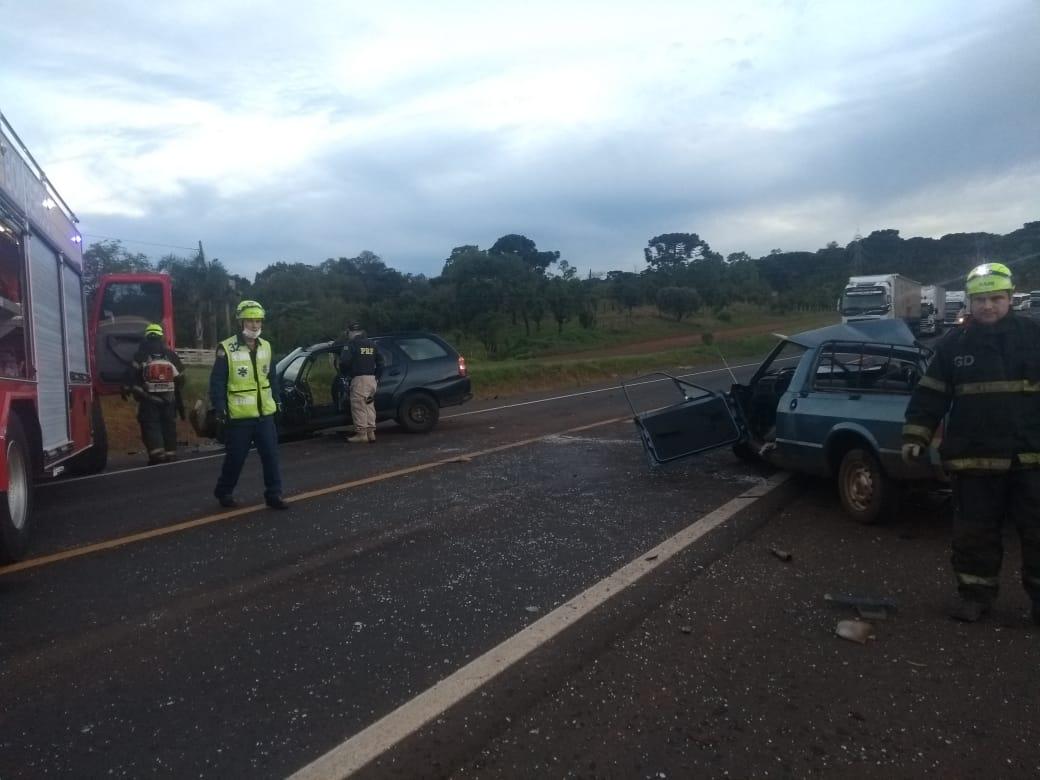 Veículo com placas de Xavantina se envolve em acidente com morte na BR 282