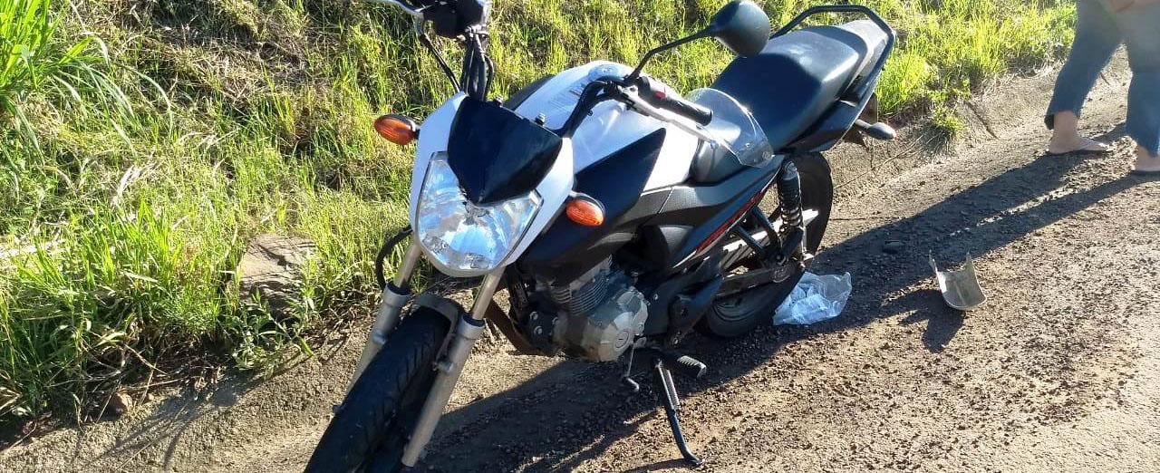 Acidente entre carro e moto no Contorno Norte de Concórdia