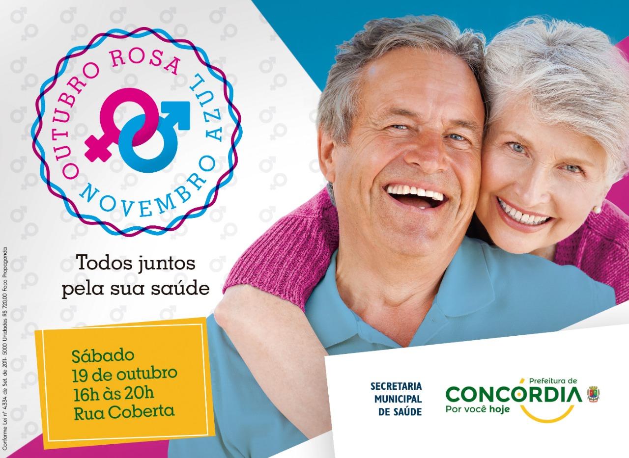 Prevenção e saúde no evento Outubro Rosa e Novembro Azul