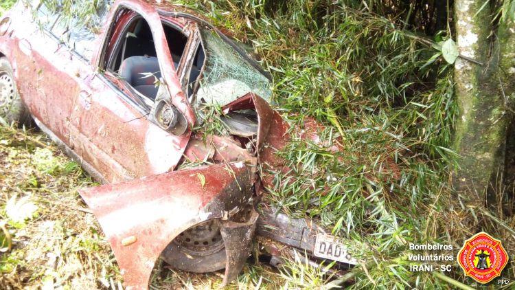 Idoso ferido em saída de pista na BR 153 em Irani