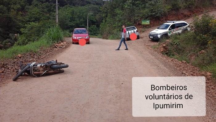 Motociclista com suspeita de fratura após colisão com veículo em Ipumirim