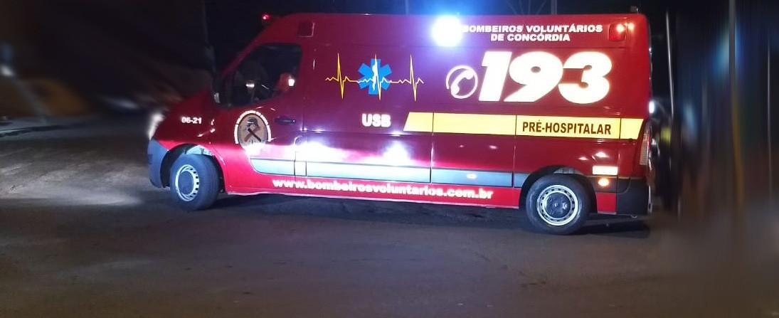 Mulher ferida em saída de pista na SC 390 em Concórdia