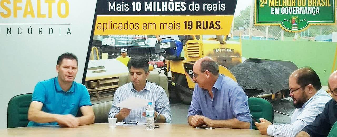 Prefeitura de Concórdia vai licitar asfalto para mais 19 ruas