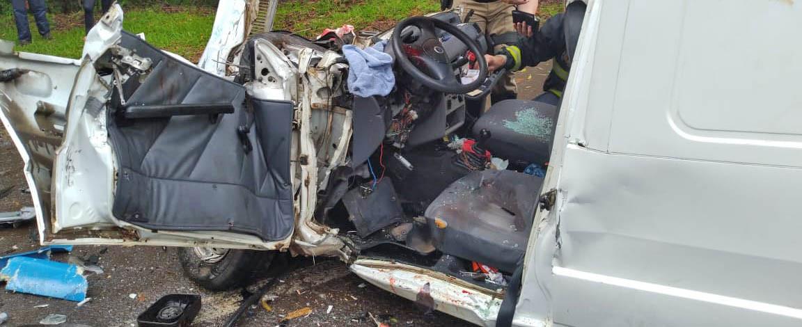 Motorista que sofreu acidente grave em Concórdia nesta terça-feira está na UTI