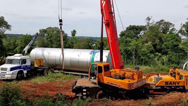 Casan praticamente finaliza instalação de reservatório de água em Ipira