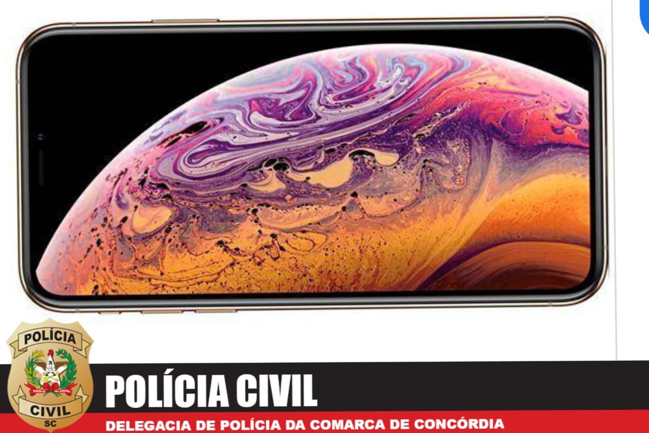 Polícia Civil recupera em Concórdia,  iPhone de R$ 8 mil roubado em SP