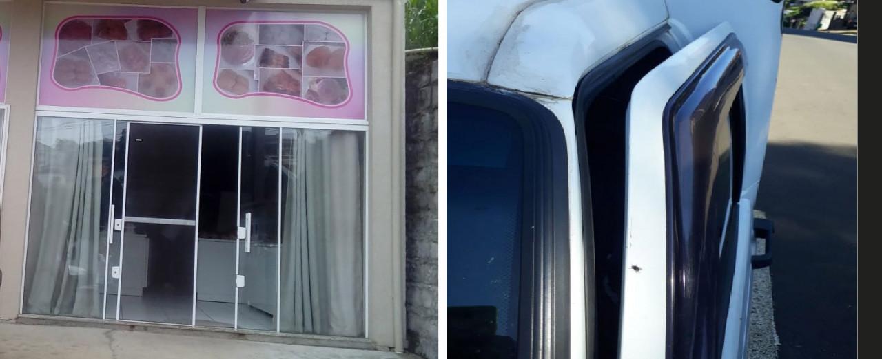 Ladrões arrombam padaria e veículo na madrugada de sábado em Concórdia