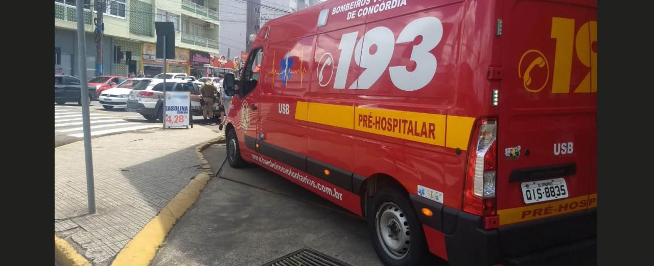 Criança é atropelada em Concórdia e sofre ferimentos na cabeça