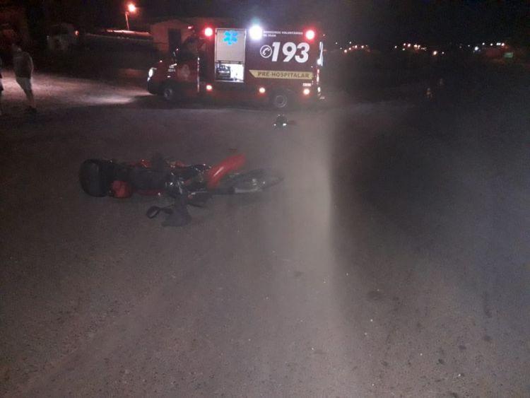 Motociclista ferido em colisão na BR 153