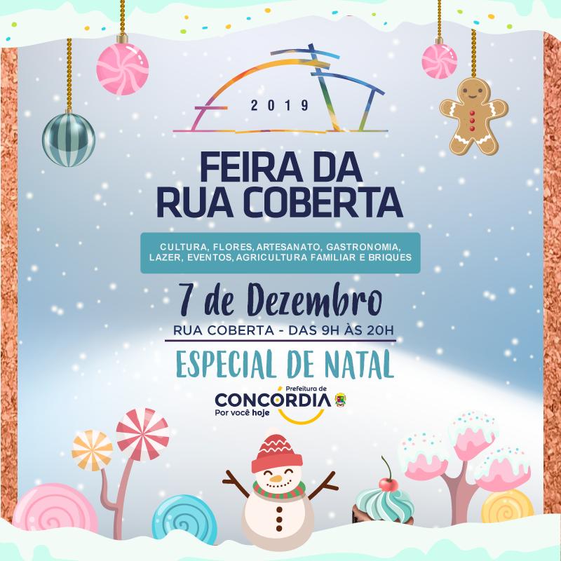 Em clima de Natal, Feira da Rua Coberta acontece neste sábado