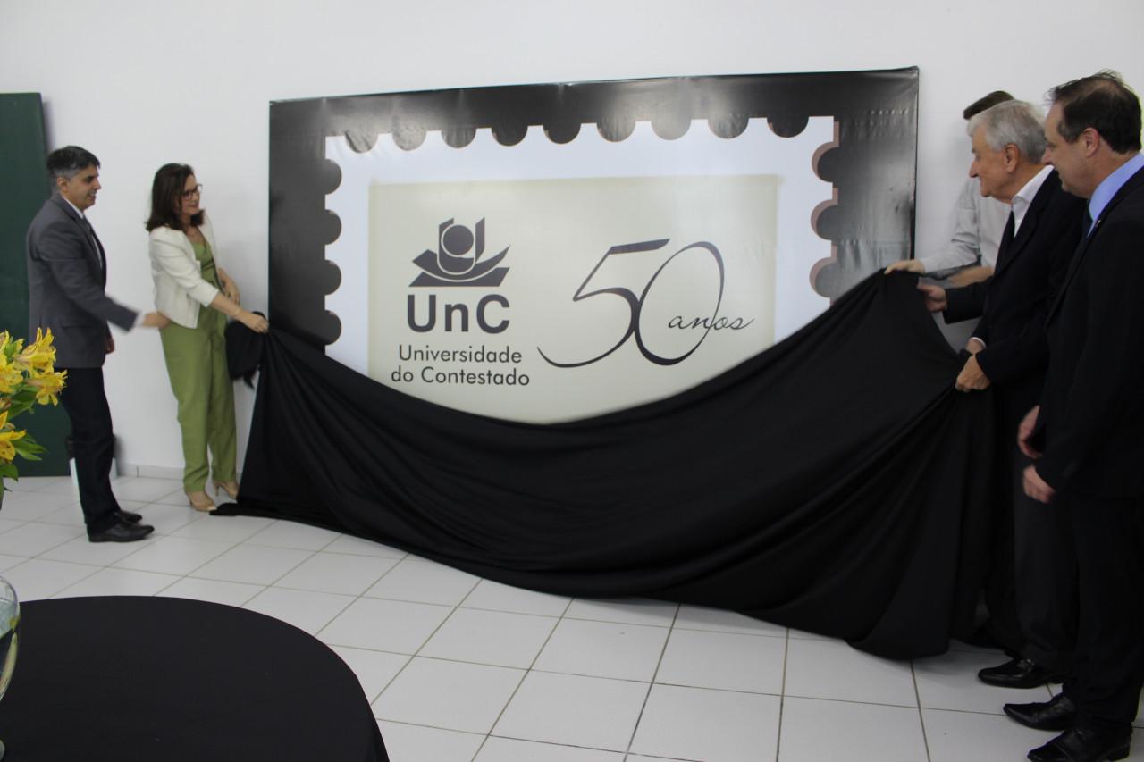 Lançado Selo Comemorativo aos 50 anos da UnC