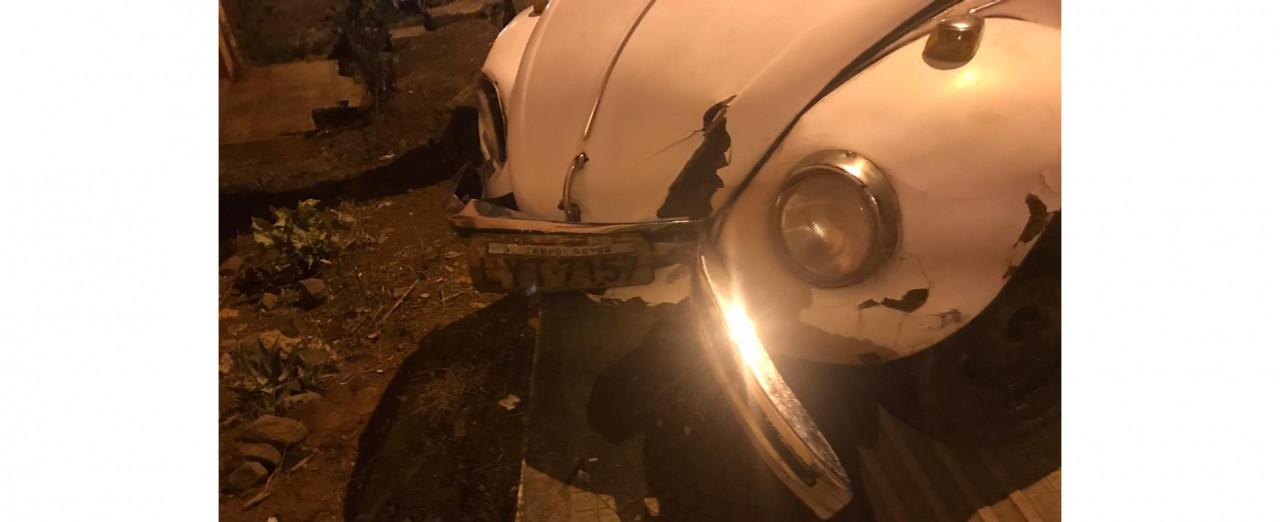 Motorista é detido por dirigir embriagado e se envolver em acidente no centro de Ipira