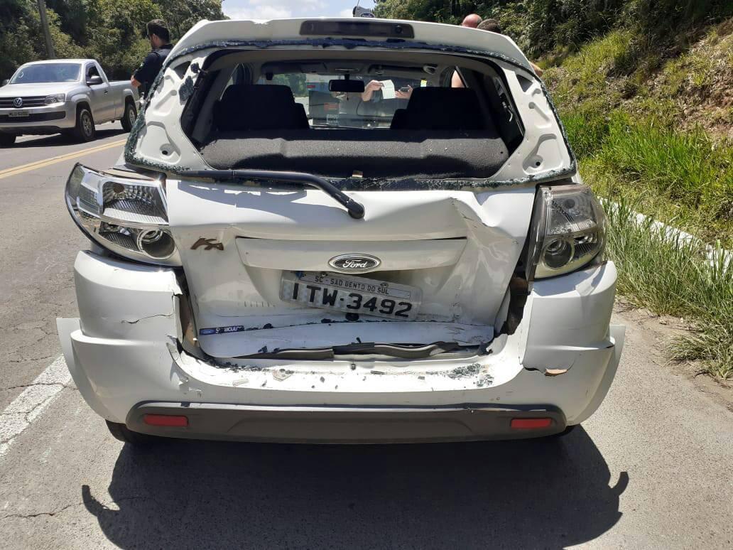 Caminhão de Concórdia se envolve em colisão na região Norte