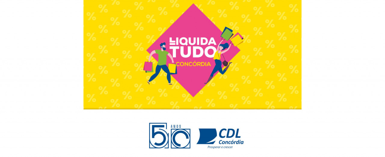 Próxima semana será de 6ª edição da Liquida Tudo Concórdia