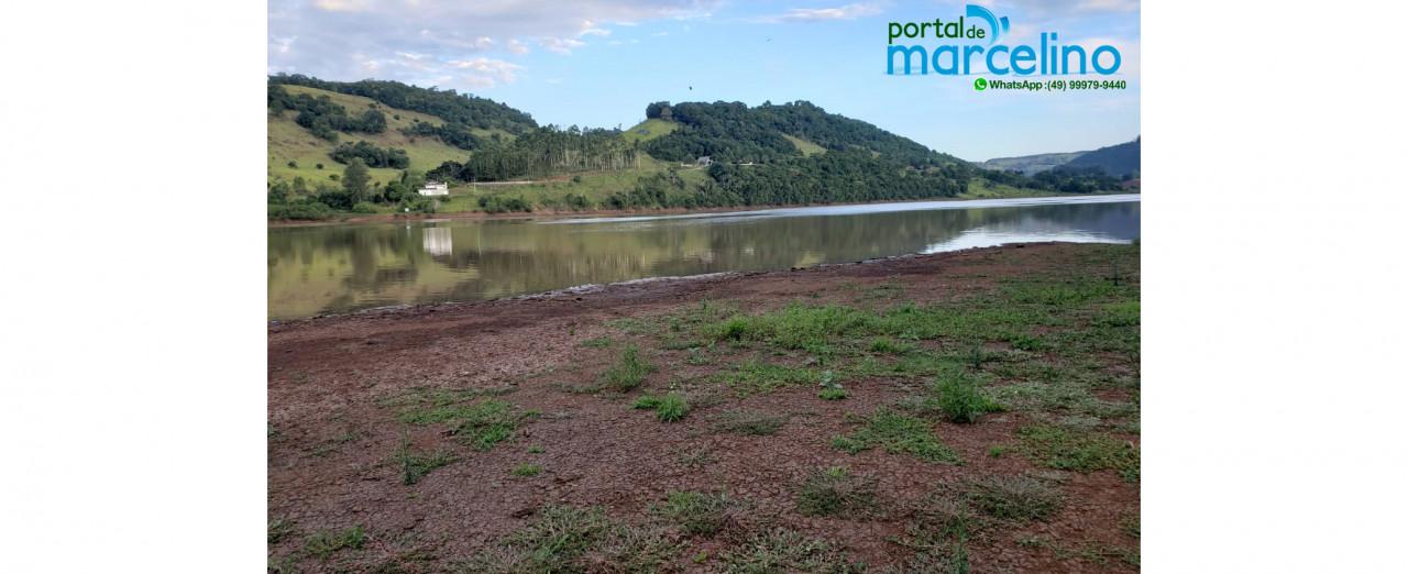 Nível do reservatória da Usina de Itá em Marcelino Ramos reflete situação da estiagem na região