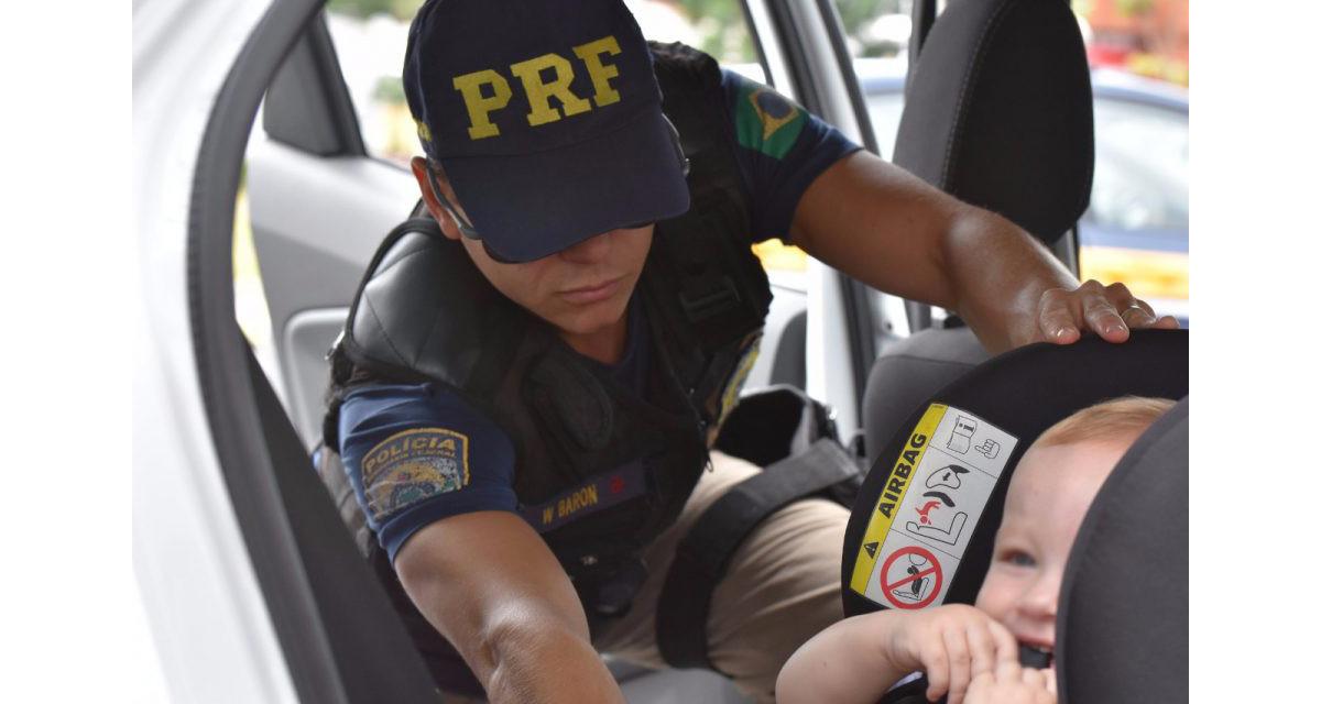 Operação Rodovida - PRF flagra 315 ocupantes sem cinto de segurança no final de semana