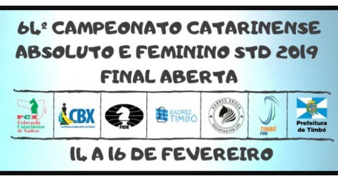 Quatro enxadristas de Concórdia no Campeonato Catarinense