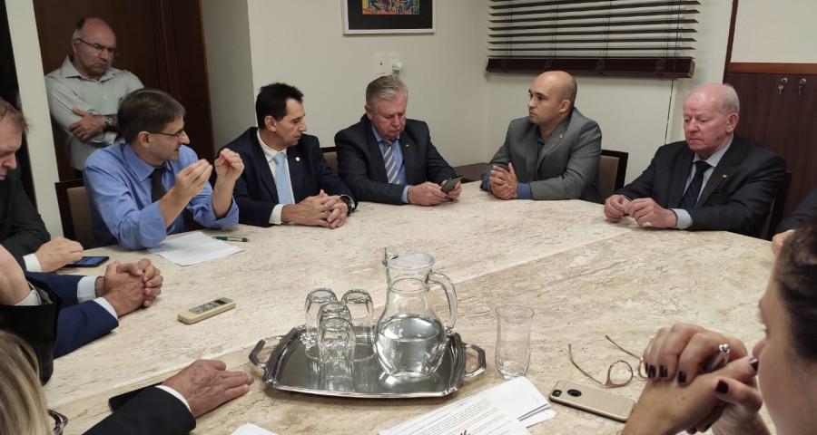 Em reunião com novo Secretário de Infraestrutura Saretta volta a cobrar a recuperação da SC-283