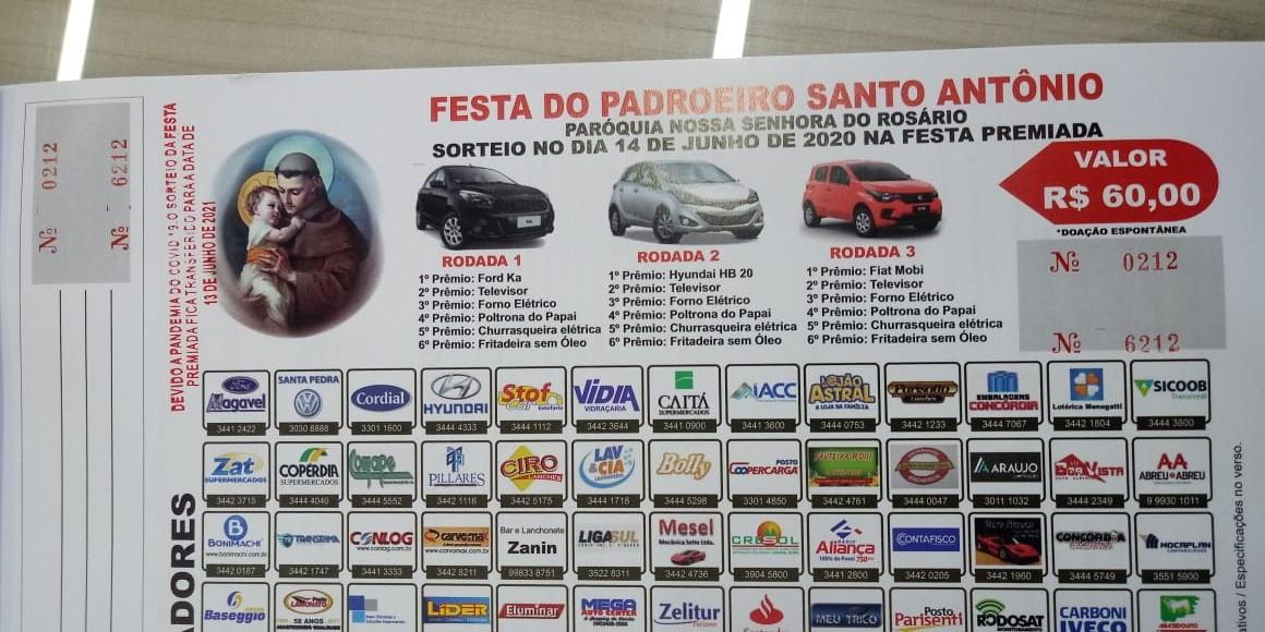 Tradicional festa de Santo Antônio é cancelada em Concórdia