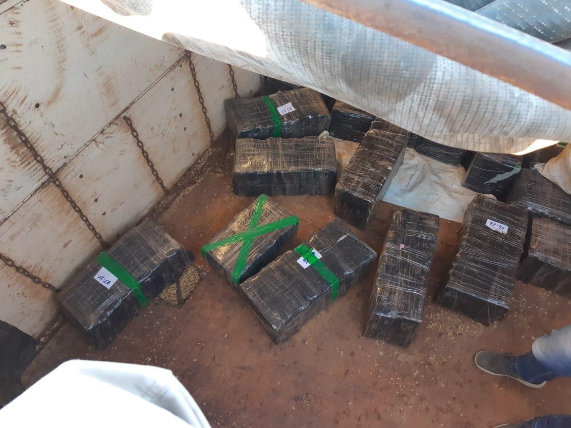 PRF apreende duas toneladas de maconha na BR-282 em Maravilha