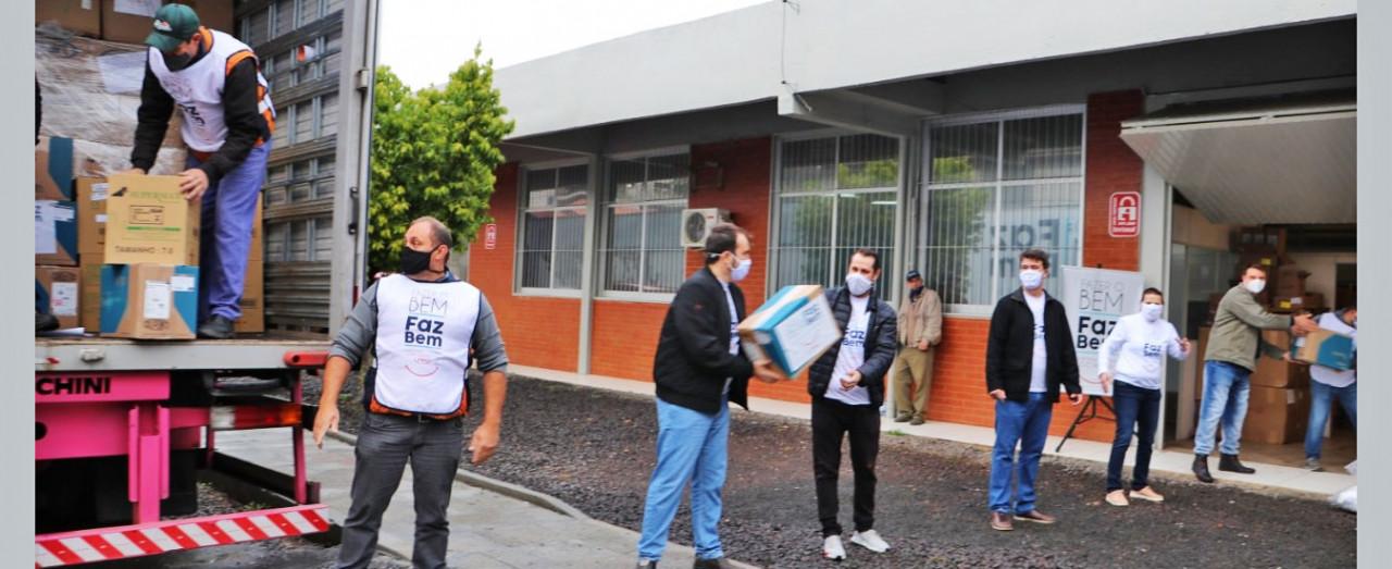 JBS faz doação de EPIs para a Saúde de Concórdia