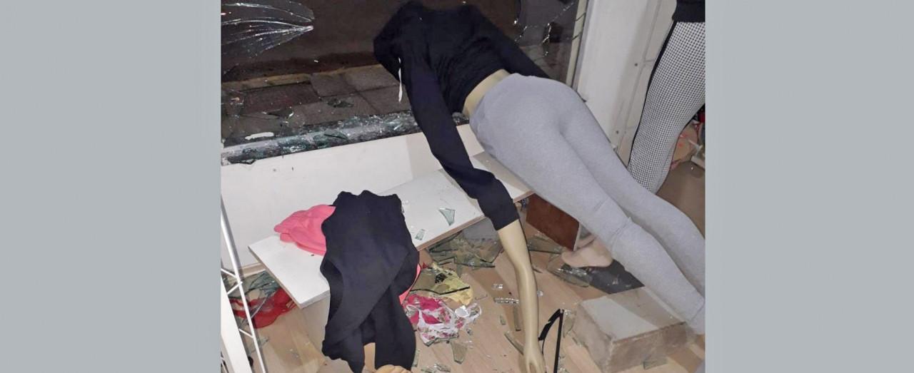 Loja de Concórdia é arrombada na madrugada de segunda-feira e ladrões furtam roupas
