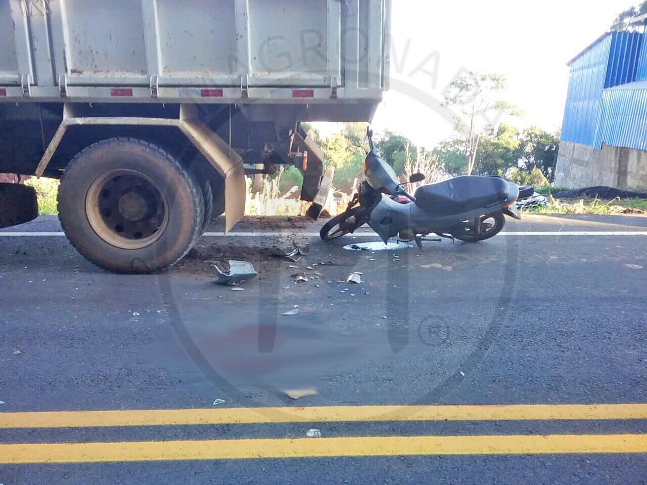 Motociclista morre em acidente no interior de Piratuba