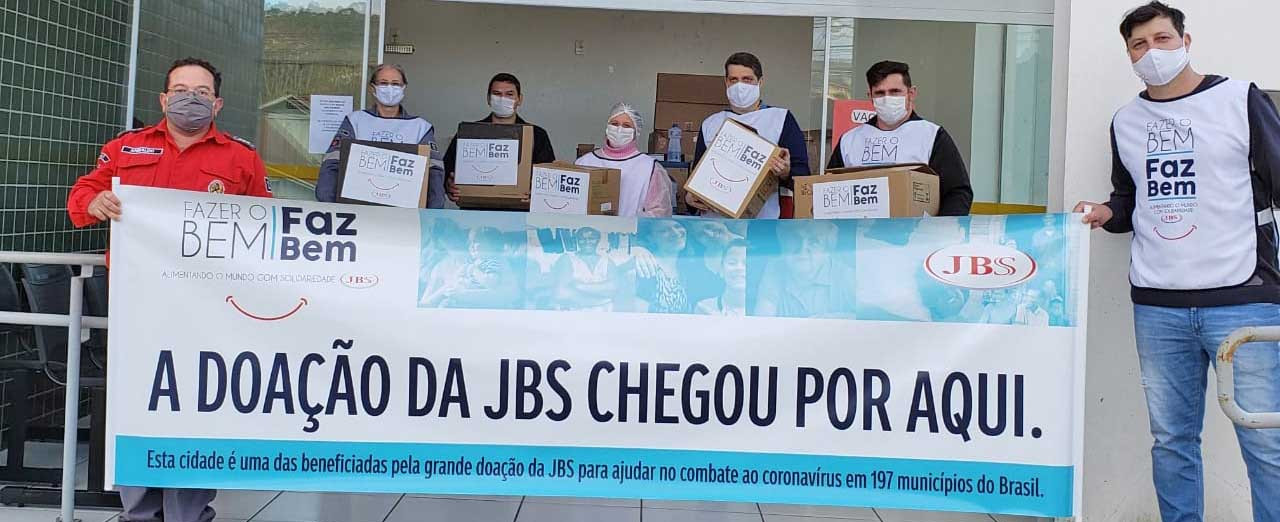 JBS entrega equipamentos de enfrentamento ao coronavírus a Arabutã, Irani e Lindóia do Sul