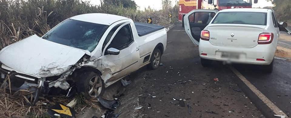 Carro com placas de Concórdia se envolve em acidente na SC-135 entre Ibiam e Tangará