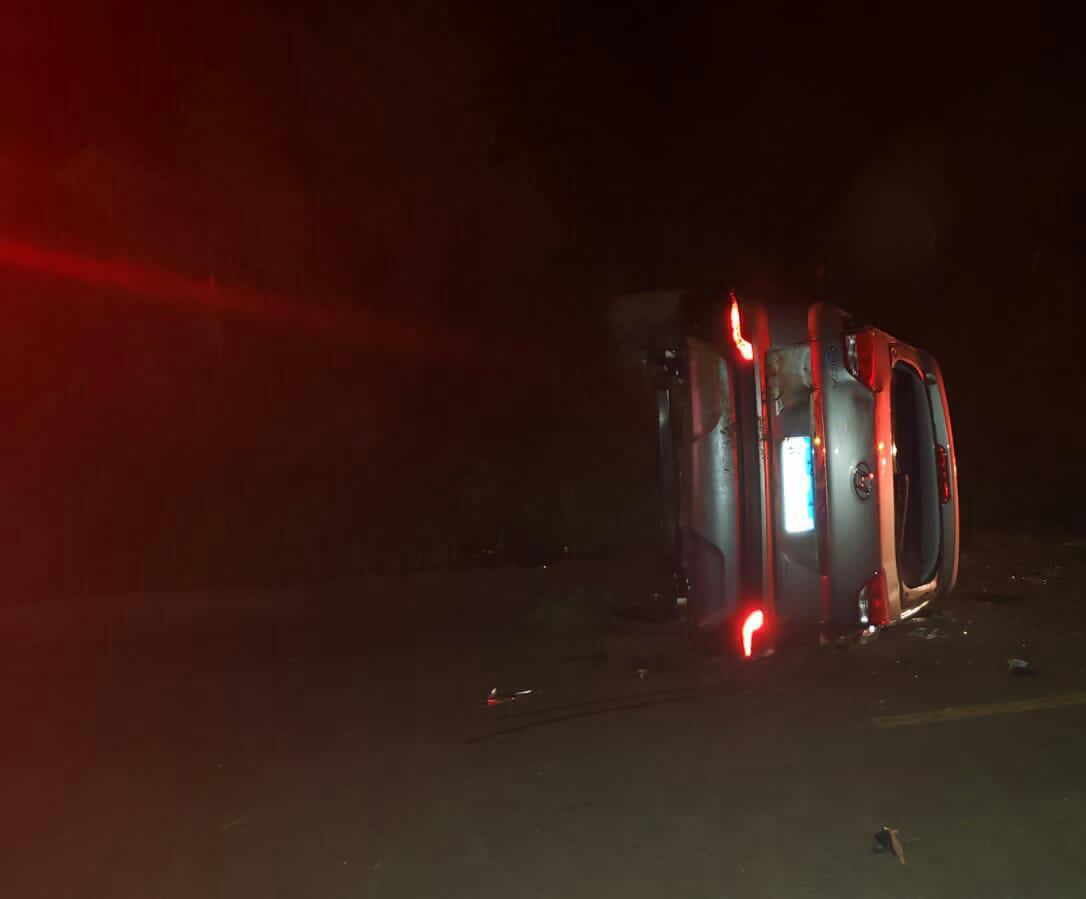 Motorista ferido em capotamento na SC 355 em Jaborá
