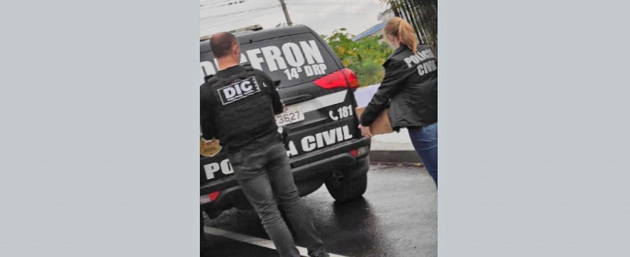 Polícia Civil de Concórdia apreende notebooks e celulares em nova fase da Operação Campo Limpo