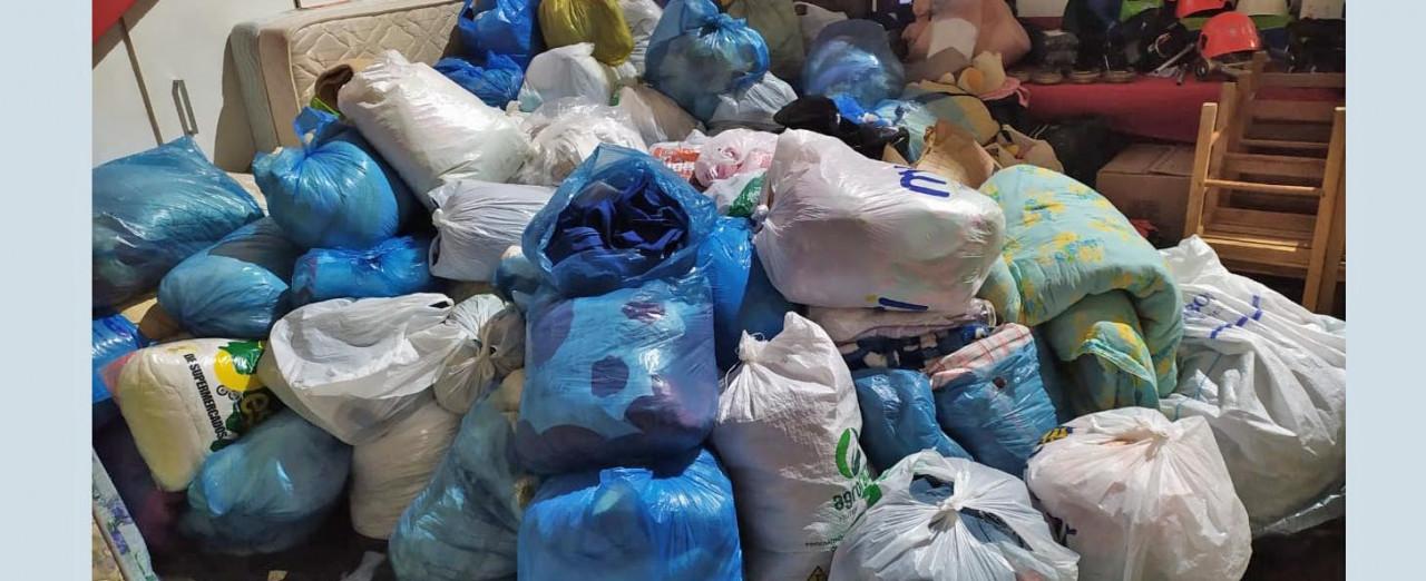 Bombeiros de Irani vão entregar doações às famílias de Vargem Bonita, atingidas por temporal