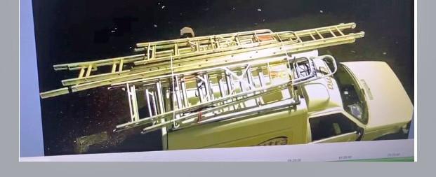 VÍDEO - Imagens mostram furto de escadas de alumínio em Concórdia
