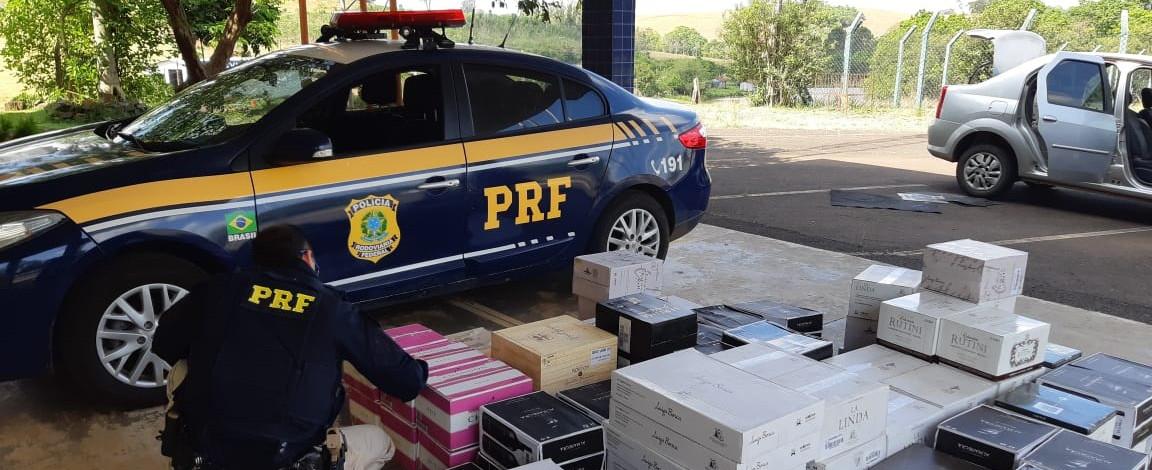 Veículo com placas de Seara é apreendido transportando vinho da Argentina