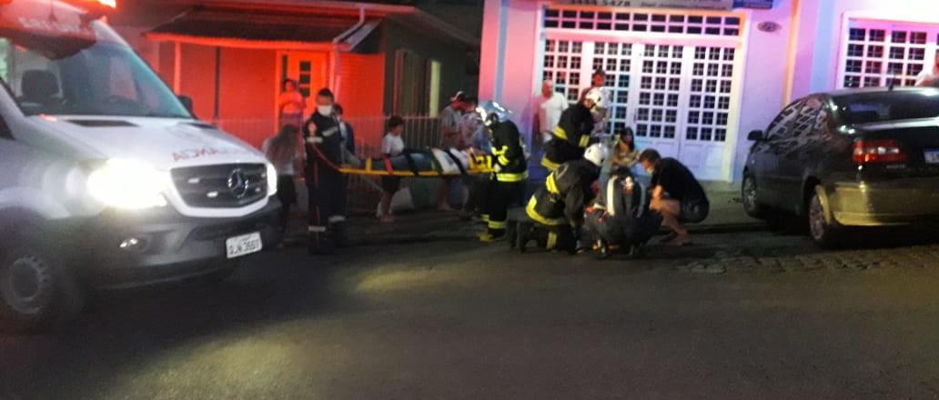 Vítima de atropelamento está na UTI do Hospital São Francisco