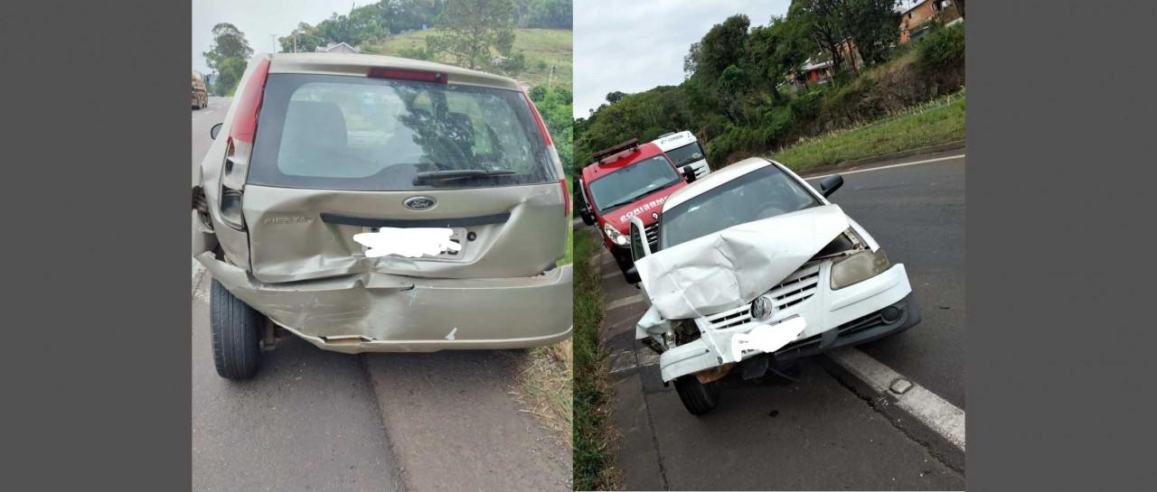 Uma pessoa ferida em colisão de dois veículos na BR 153