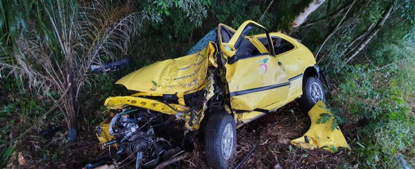 Grave acidente envolve veículo com placas de Concórdia em Capinzal