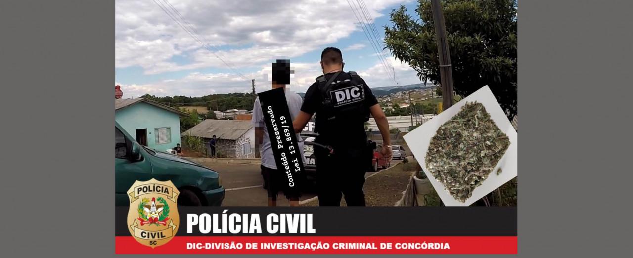 Polícia Civil prende suspeito por tráfico de drogas no Frei Lency