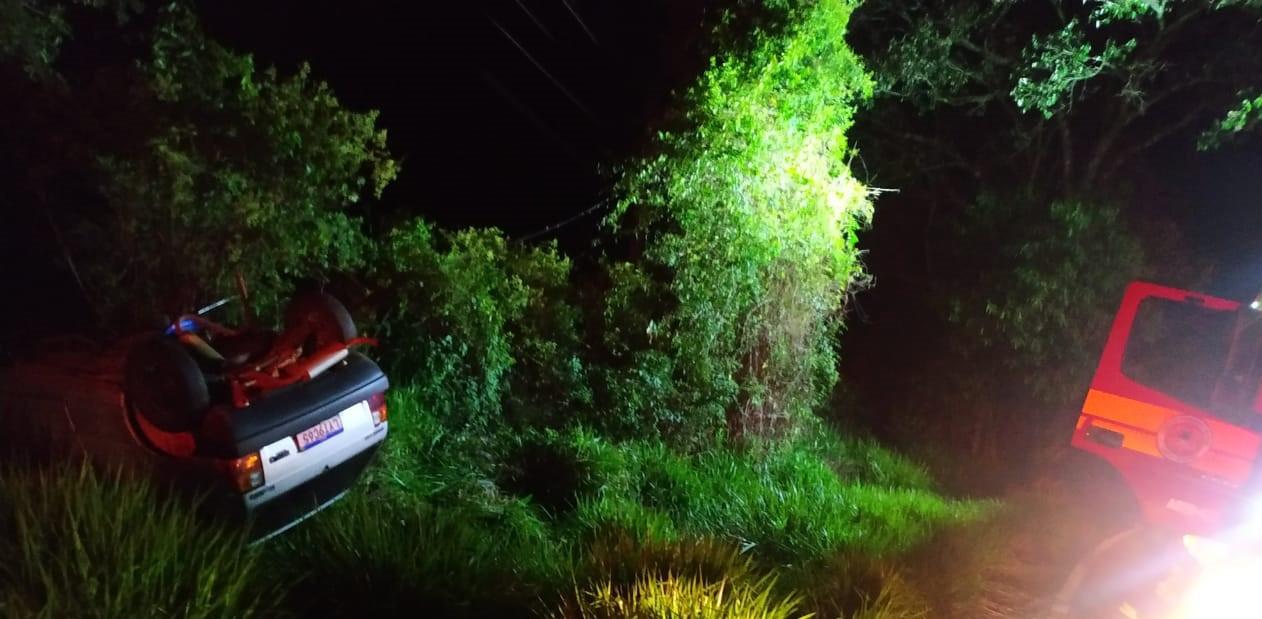 Mulher gravemente ferida em acidente com carro em Jaborá está na UTI